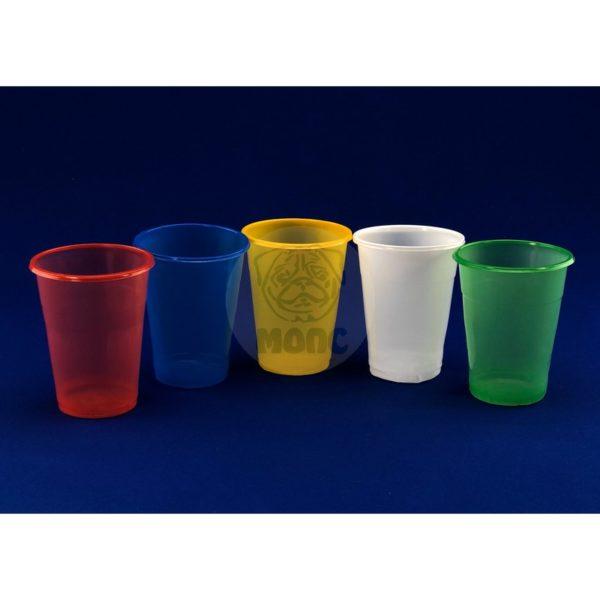 Набор стаканов одноразовых 0,2л цветных Микс (5шт)