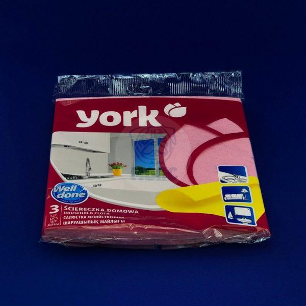 Салфетка «York» фланелевая 3шт 1/100