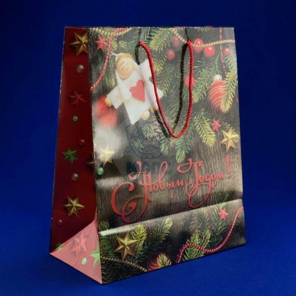 Пакет бумажный подарочный (264х136х327)