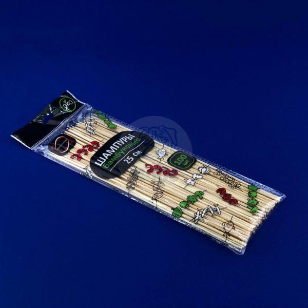 Шампур деревянный из бамбука 25см (100шт) 1/100