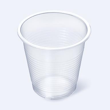 Стаканчик пластиковый одноразовый 500мл прозрачный «Бочка» 100/2000