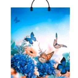 Пакет с пластиковой петлевой ручкой «Бабочки» 38*45см 10/150