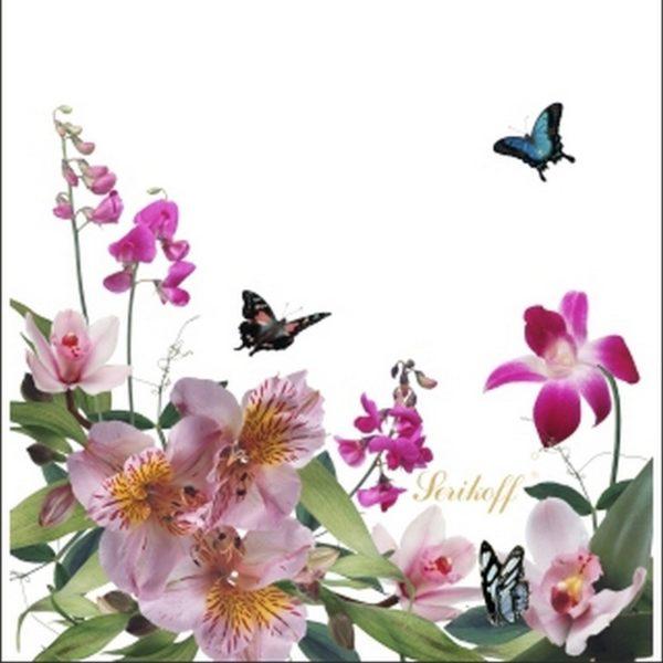 Пакет с петлевой ручкой «Цветы» 35*37см 50/500