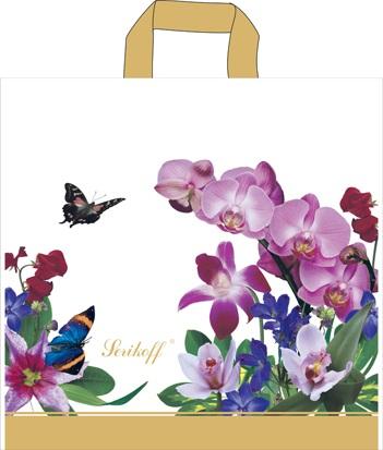 Пакет с петлевой ручкой «Орхидея белая» 39*40см 25/500