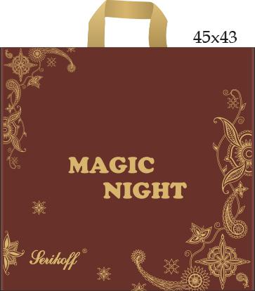 пакет прив (45х43 100мкм) Магик Найт корич С 50/400