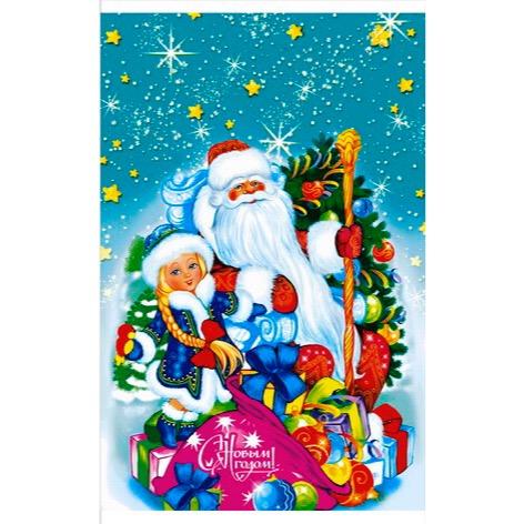 Пакет подарочный «Мешок подарков» 25*40см 100шт 100/2000