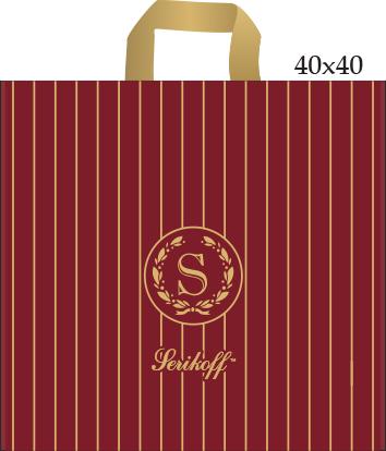 Пакет с петлевой ручкой «Статус» бордо 40*40см 25/400