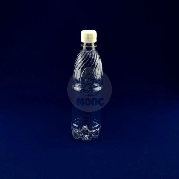 Бутылка пластиковая ПЭТ 0,5л прозрачная 1/198