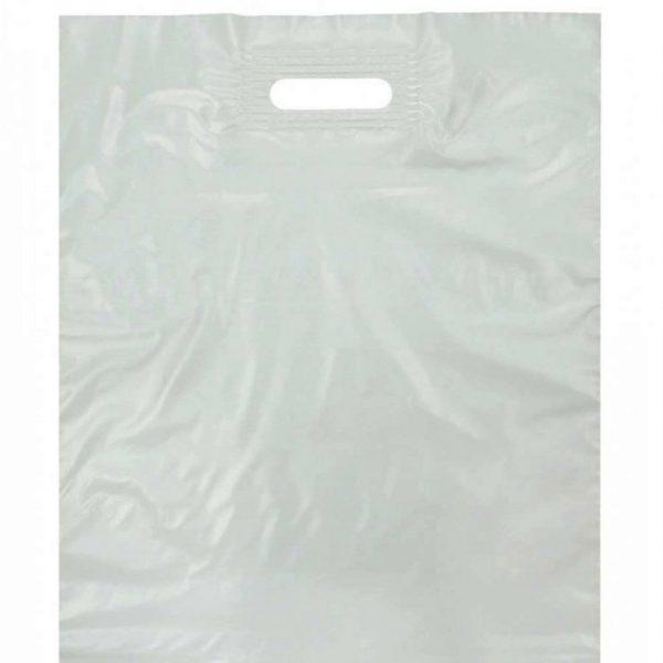 Пакет с вырубной ручкой «Белый» 40*50см 50/500