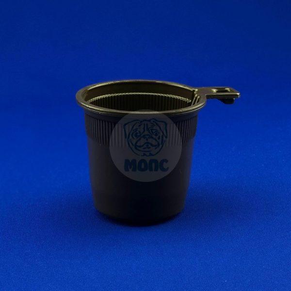 Чашка кофейная пластиковая одноразовая коричневая 200мл 50/1500