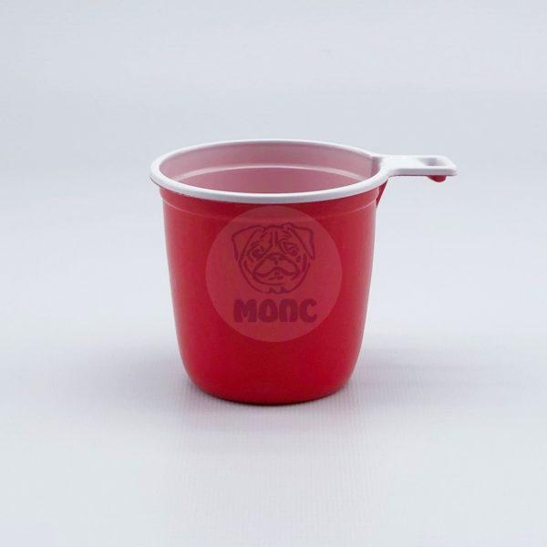 Чашка кофейная одноразовая 200мл пластиковая красно-белая Экстра 50/30/1500