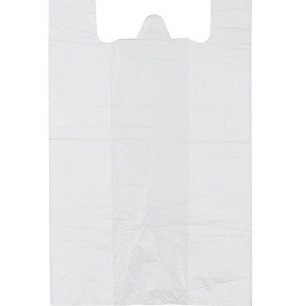Пакет-майка ПНД Белая (40+20*60 20мкм) 100/1000
