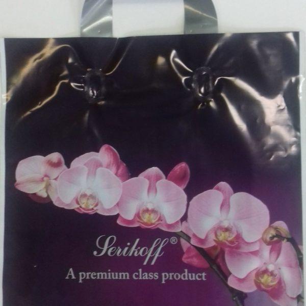 Пакет с петлевой ручкой «Ветка орхидеи» 30*34см 50/700
