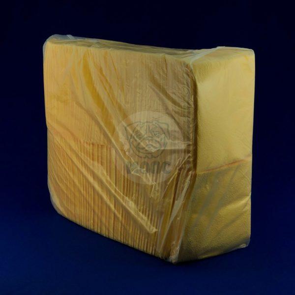 Салфетки бумажные однослойные желтые интенсив 600 л 24х24 см 1/8