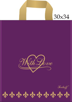 Пакет с петлевой ручкой «Сердце» 30*34см 50/700