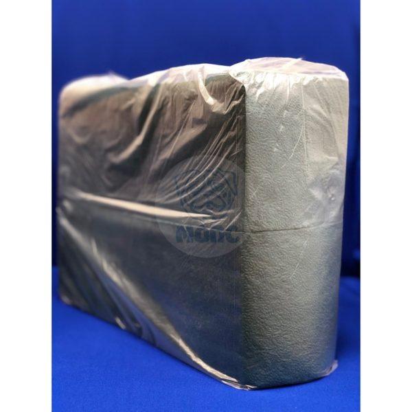 Салфетки бумажные однослойные зеленые интенсив 600 л 24х24 см 1/8