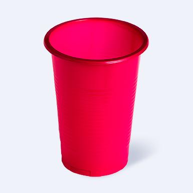 Стаканчик пластиковый одноразовый 200мл цветной 100/3000