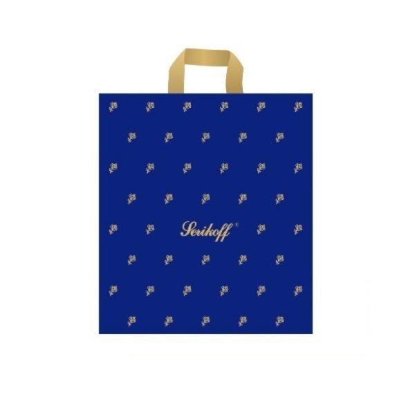 Пакет с петлевой ручкой «Подарочный» синий 40*44см 25/400