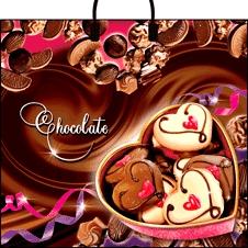 пакет пласт руч. Шоколад (38х35 90мкм) И 10/100
