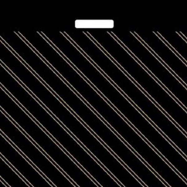 Пакет с вырубной ручкой «Золотая полоса» 60*70см 25/250