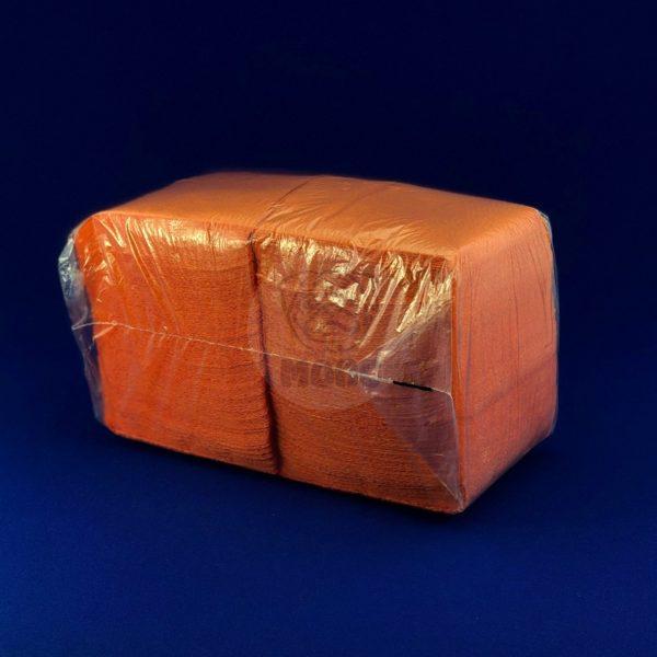 Салфетки бумажные однослойные оранжевые 24*24см 300л 1/20