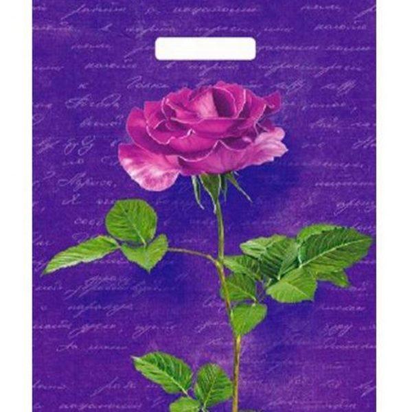 Пакет с вырубной ручкой «Тайна розы» 31*40см 50/1000