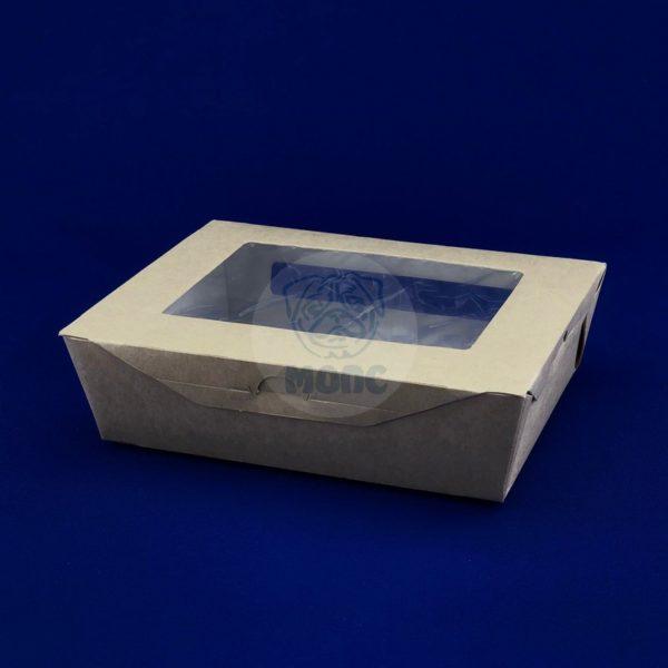 Пакет бумажный для выпечки с окном (190*150*50) 1000 мл 60/180
