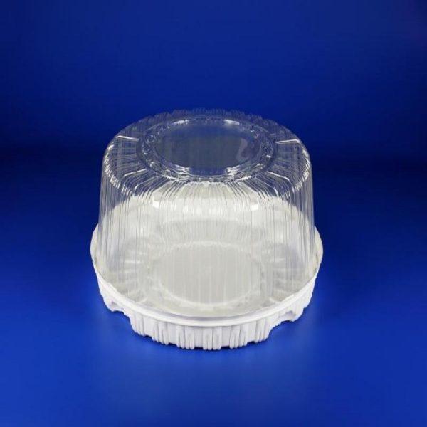 Контейнер для торта одноразовый пластиковый круглый с крышкой Т-280 1/85