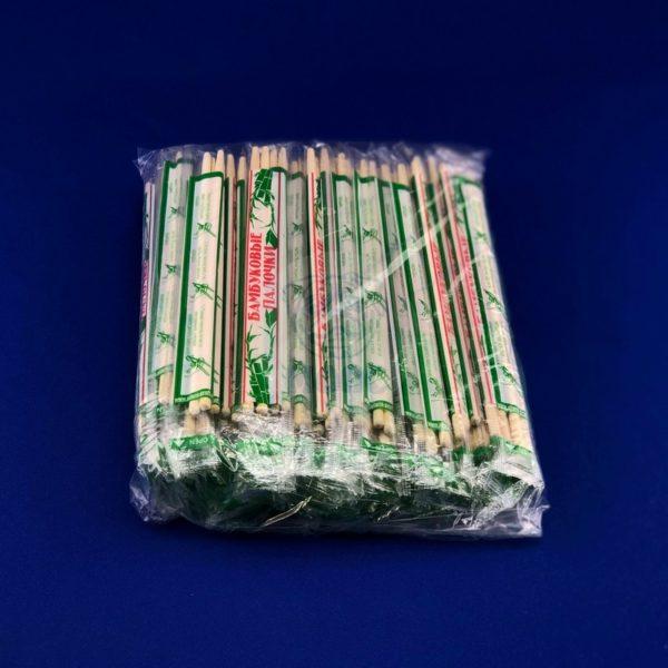 Палочки для суши бамбуковые 23см с зубочисткой (100 пар) 1/2000