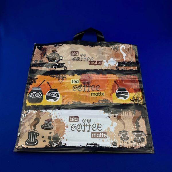 Пакет с петлевой ручкой «Кофе-матэ» 40*42см 25/500