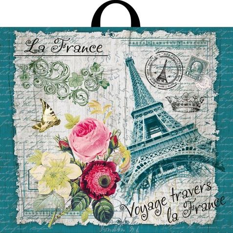 Пакет с петлевой ручкой «Франция» 60*50см 25/250