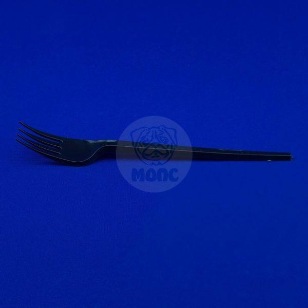 Вилка пластиковая одноразовая черная 165мм 100/2000