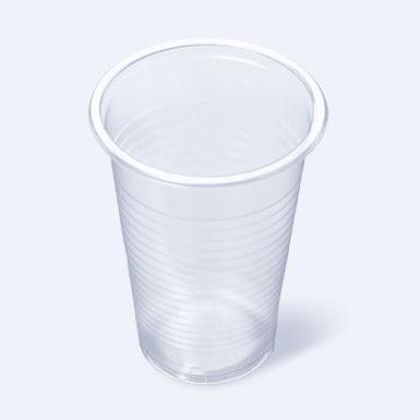Стаканчик пластиковый одноразовый 200мл прозрачный 100/3000