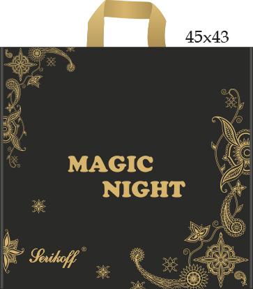 Пакет с петлевой ручкой «Magic night» 45*43см 25/400