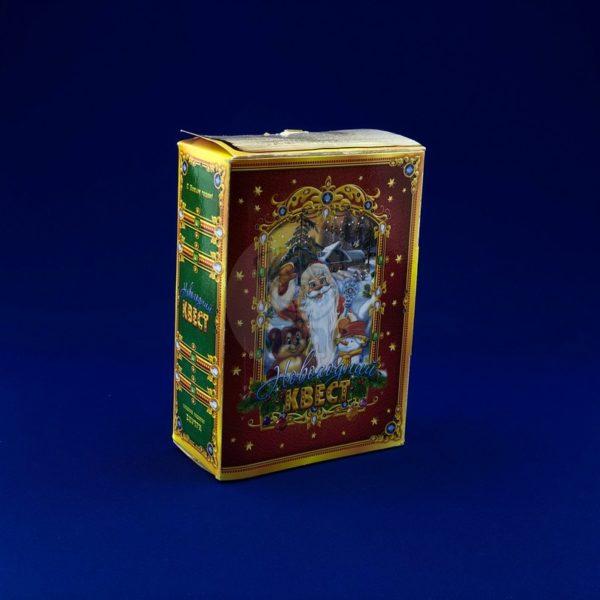 Картонная упаковка для новогодних подарков «Квест новогодний» 400 гр 1/300