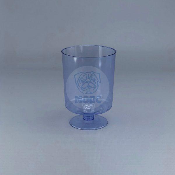 Бокал пластиковый для вина синий «Кристалл» 200мл (10 шт) 1/54