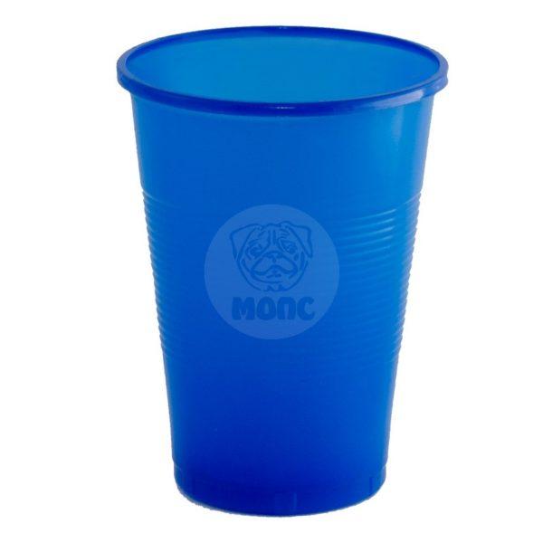 Стаканчик одноразовый 200мл пластиковый синий Стандарт 100/42/4200