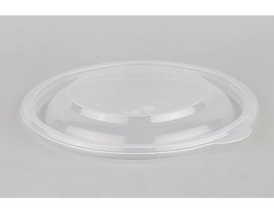 Контейнер пищевой одноразовый пластиковый суповой круглый черный с крышкой К-115 0,5л 50/300