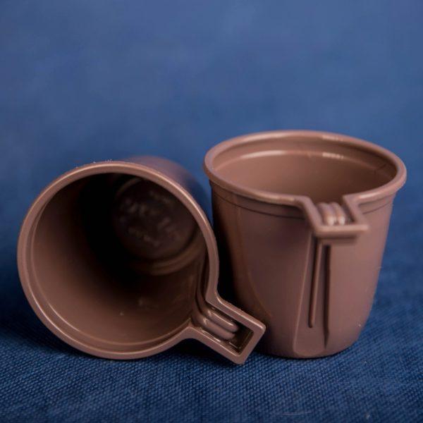 Чашка кофейная одноразовая 200мл пластиковая коричневая Эконом 50/30/1500