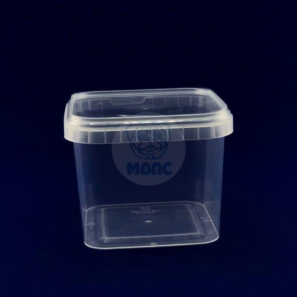 Контейнер многоразовый пластиковый с крышкой 1,0л прозрачный 1/180