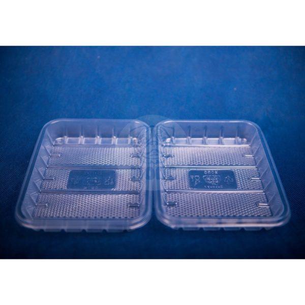 Лоток одноразовый прозрачный 0,5кг для фасовки и заморозки 50/44/2200