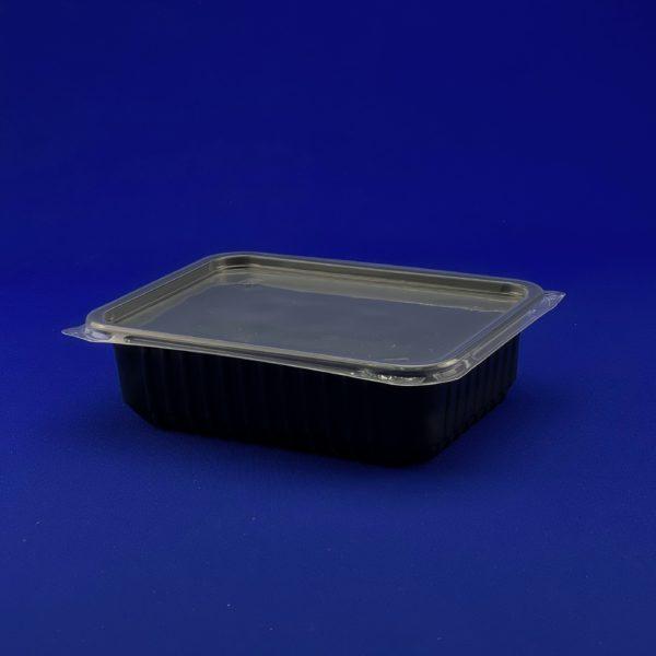 Контейнер одноразовый прямоугольный низкий черный 0,75л КР-179 50/500