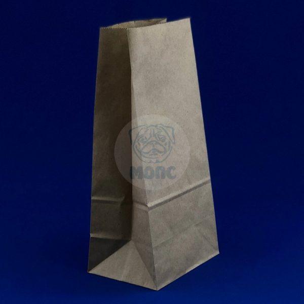 Пакет бумажный на вынос 1кг (120*80*240мм) крафт 100/1000