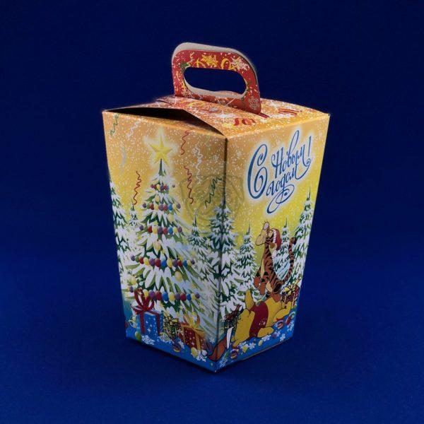 Картонная упаковка для новогодних подарков « Фонарик» 900 гр