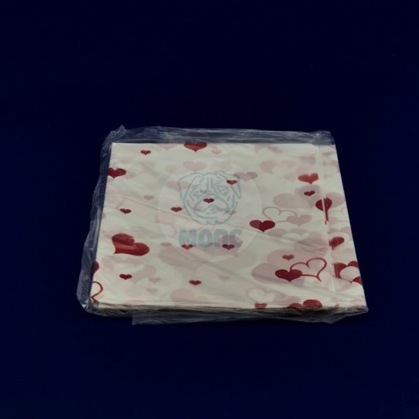 Скатерть одноразовая ПВД «Сердечки» 120*220см 1/250