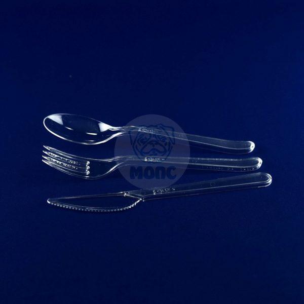 Набор столовых пластиковых приборов «Премиум» (3×5шт)