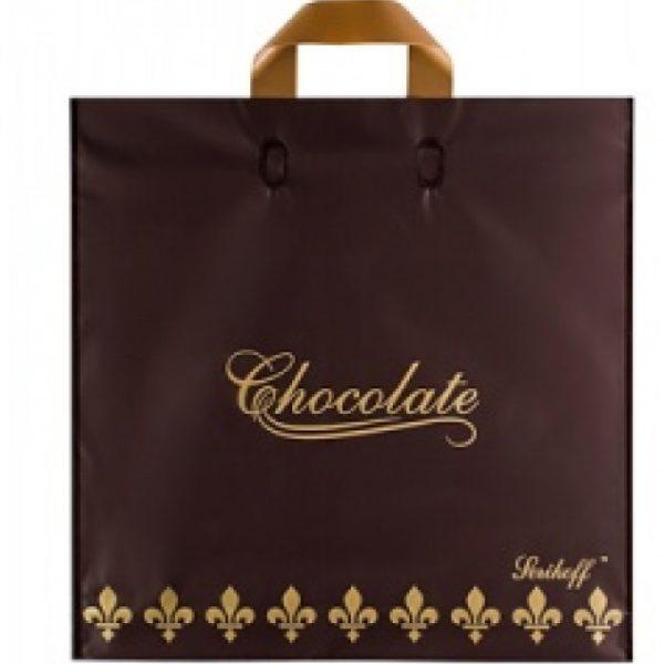 Пакет с петлевой ручкой «Шоколад» черный 30*34см 25/400
