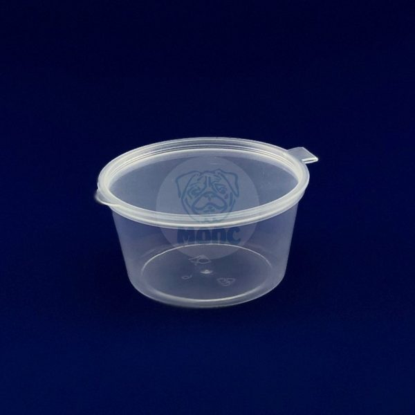 Соусник пластиковый с неразъемной крышкой 80 мл одноразовый 150/1500