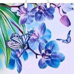 Пакет с пластиковой петлевой ручкой «Фиолетовая дымка» 38*45см 1/150