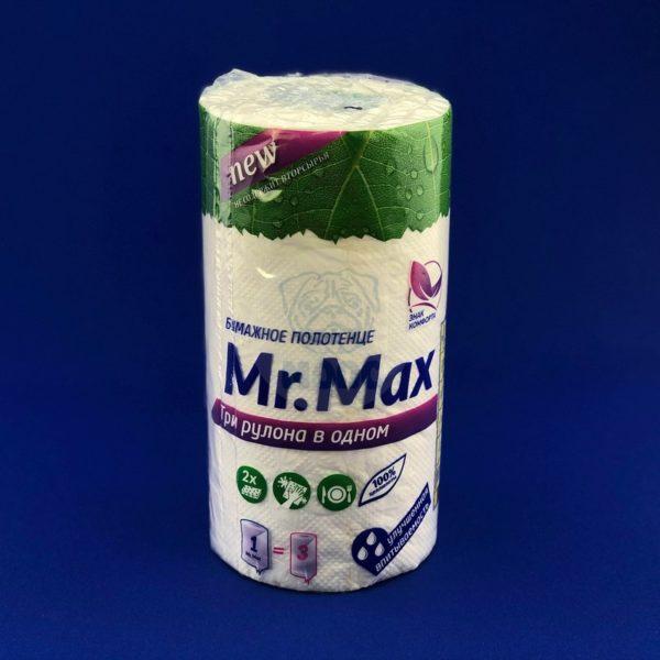 Полотенце «Mr.Max» 2-слойное белое (1шт) 1/8
